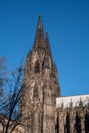 Cologne Cathedral. It ranked third in the list of the highest churches in the world and is listed World Heritage sites. Germany.