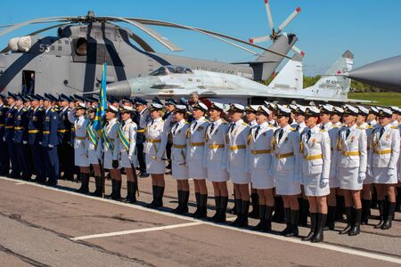 pushkin: Pushkin, Russia - June 5, 2017: A solemn parade dedicated to the 75th anniversary of the 6th Army.
