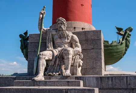 St. Petersburg. South rostral column. The male figure allegorically represents the Dnieper River.
