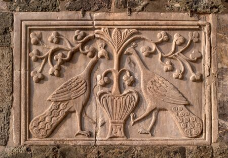 Basilica of San Marco. Venice, Italy. Decorative element of the outer wall of the basilica. Stock Photo