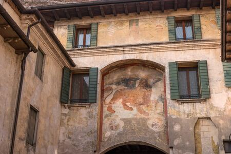 Symbol Of The City Of Venice In Udine Lion Of Saint Mark Pictured
