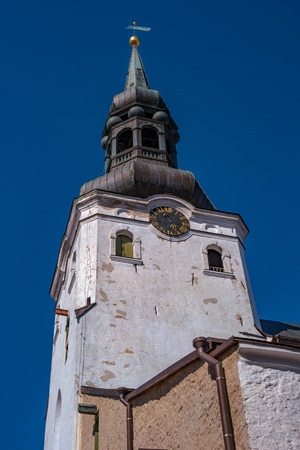 Medieval Toomkirik -Dome Church- St Marys Cathedral on Toompea hill in Tallinn old town, Tallinn, Estonia Stock Photo