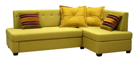 Corner sofa isolated on white background. Imagens