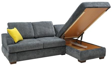 Corner sofa isolated on white background
