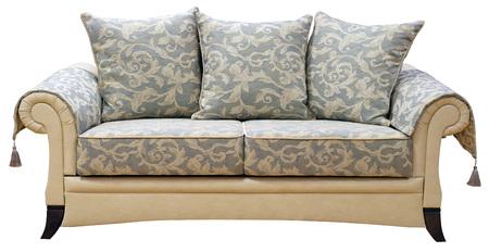 Elegant sofa isolated on white background.