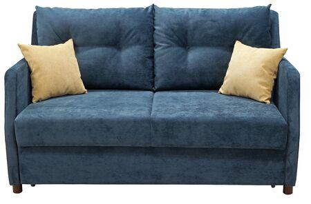 Turquoise sofa isolated on white background