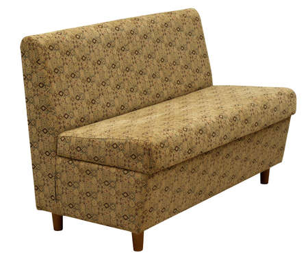 Sofa isolated on white background.