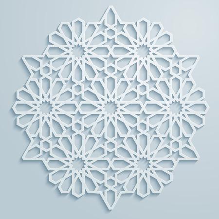 Arabic ornament geometric pattern background