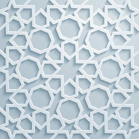 arabesco: Fondo del ornamento patrón geométrico árabe Vectores