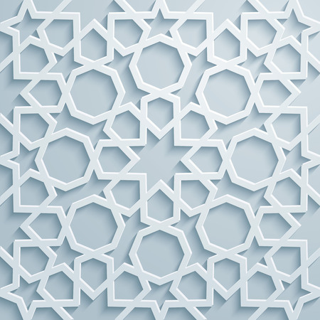 Ornament arabic geometric pattern background