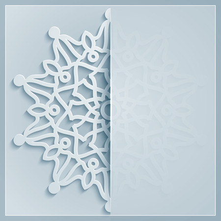 Geometric ornament arabic pattern for greeting background