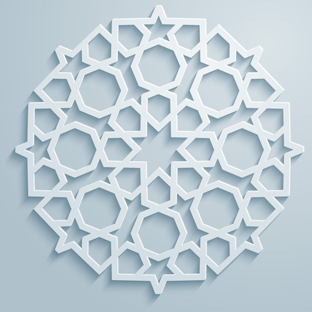 Geometric ornament arabic round pattern background - persian decorative