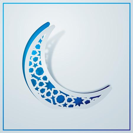Islamic background design arabic pattern in crescent symbol Stock Vector - 56667956