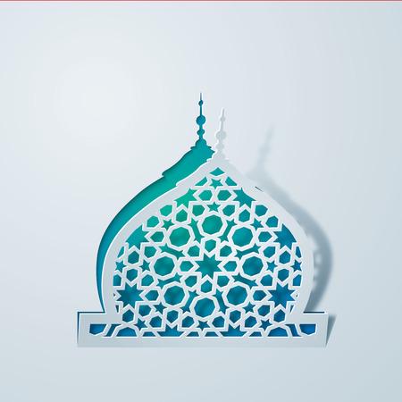 Islamitische achtergrond moskee koepel en Arabisch geometrisch patroon