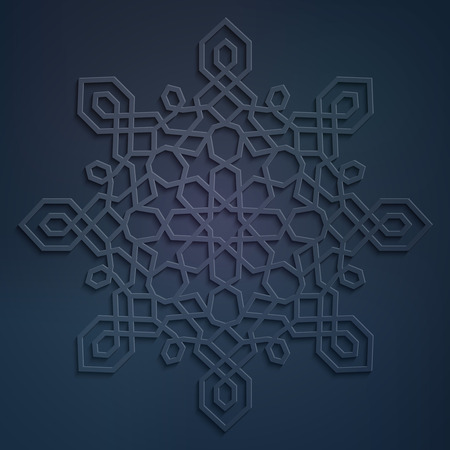 pattern geometric: Arabic circle ornate design geometric pattern ornamen