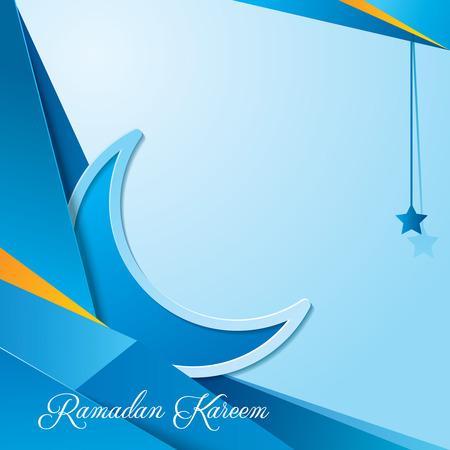 挨拶のラマダン カリーム背景デザイン