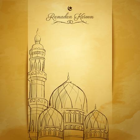 라마단 카림 인사말 카드 배경