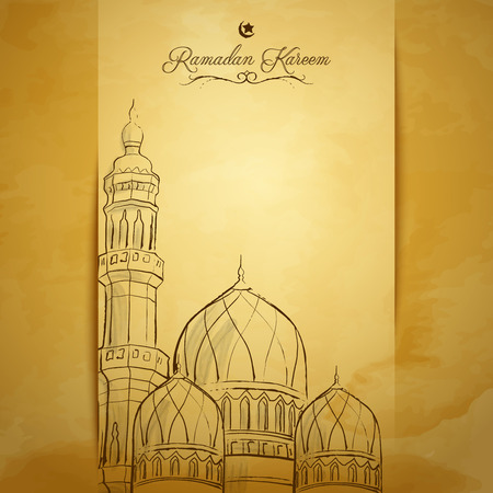 greeting card background: Ramadan Kareem greeting card background