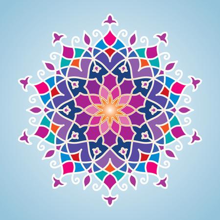 Circle pattern arabic decorative ornament
