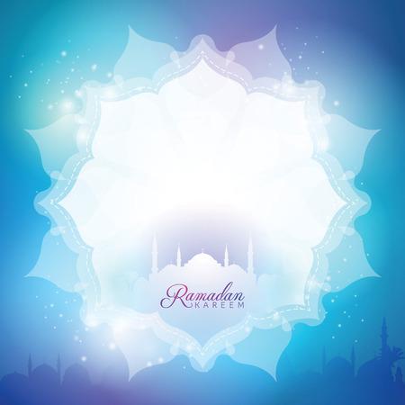 伊斯兰背景问候横幅斋月斋月