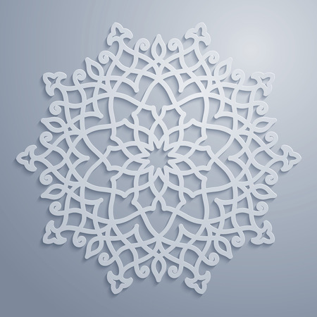 Vector arabic pattern circle ornament Vectores