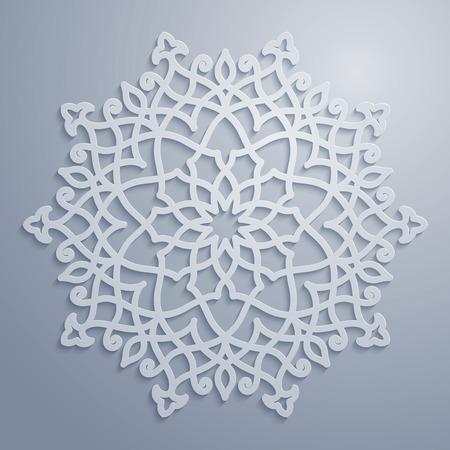 Vector arabic pattern circle ornament Vectores