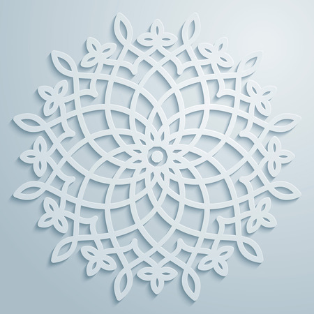 Vector circle arabic pattern decorative ornament