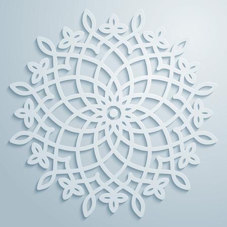 Vector circle arabic pattern decorative ornament