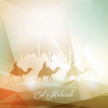 celebration: Greeting background for islamic celebration Eid Mubarak
