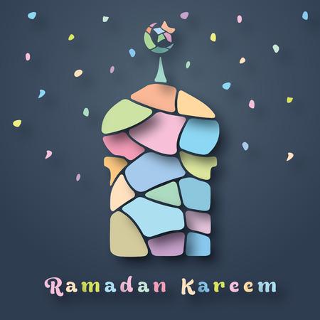 Ramadan Kareem Mosque Soft Colorful Stone