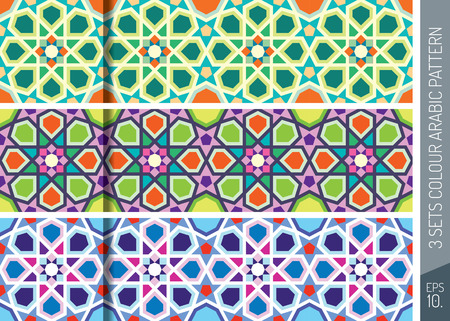 Three Sets Geometric Arabic Pattern Ornament_3