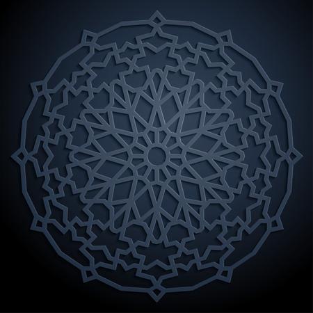 arabesque pattern: Arabic geometric pattern Illustration