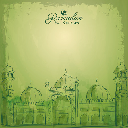Ramadan Kareem islamic greeting banner background