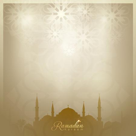 Ramadan Kareem background islamic greeting