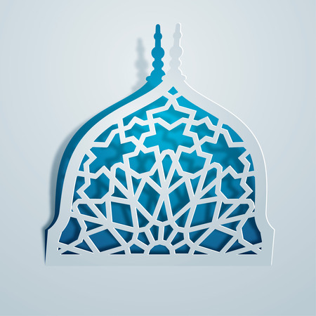 Islamic design geometric pattern mosque dome Ilustração