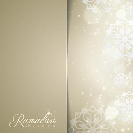 greeting card background: Islamic design Ramadan Kareem greeting card background