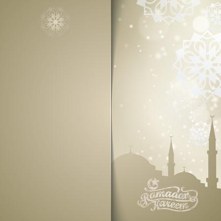 Modello di sfondo biglietto di auguri Ramadan Kareem