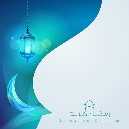 Ramadan kareem greeting card template design  イラスト・ベクター素材