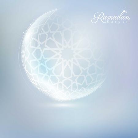 라마단 배경 이슬람 초승달과 아랍어 패턴