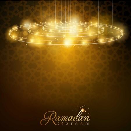 Ramadan Kareem-gloeilamp met Arabisch geometrisch patroon Stock Illustratie