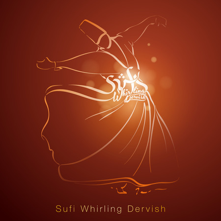 sufism: Sufi Whirling Dervish religous dance sketch