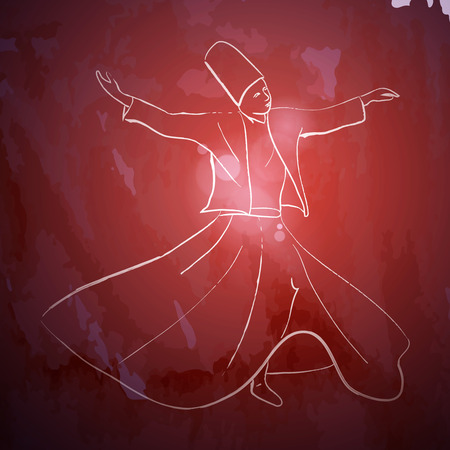 sufi: Whirling Dervish sufi religious dance