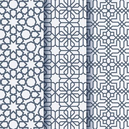 Arabic ornament geometric pattern Stock Illustratie