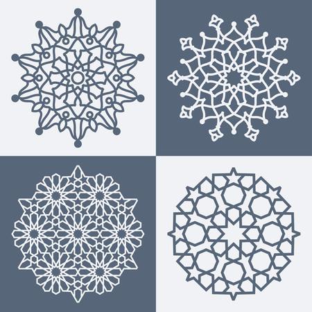 Arabic elegant geometric pattern 일러스트