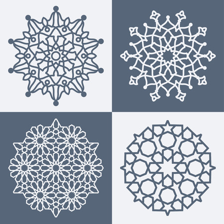 Arabic elegant geometric pattern Ilustração