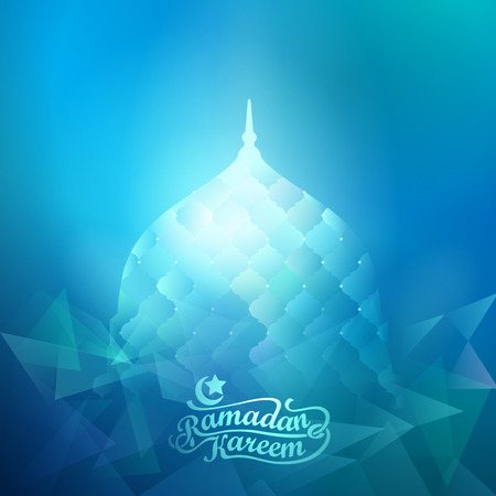 dome: Ramadan Kareem greeting background polygonal mosque dome Illustration