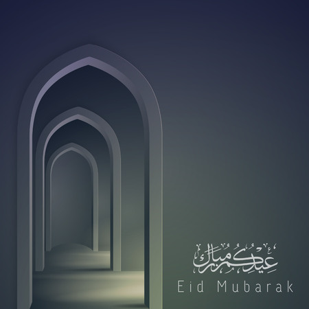 Eid Mubarak background islamic greeting card design
