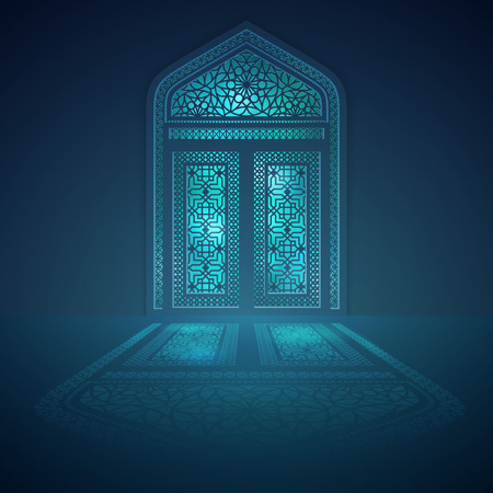light shadow: Islamic background design mosque window with light shadow