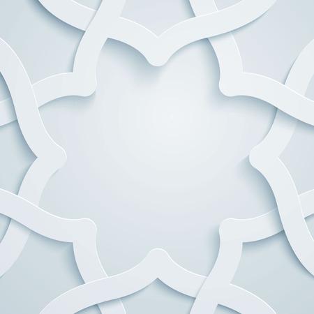 Islamitische grafische vector patroon geometrische versiering Stock Illustratie
