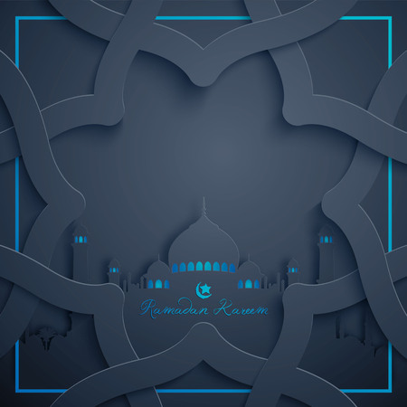 Ramadan Kareem background islamic greeting design with arabic pattern